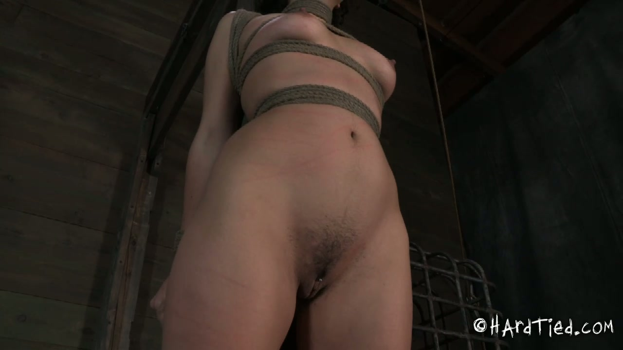 Rapacious domina ties hard curvy brunette doxy in BDSM sex scene