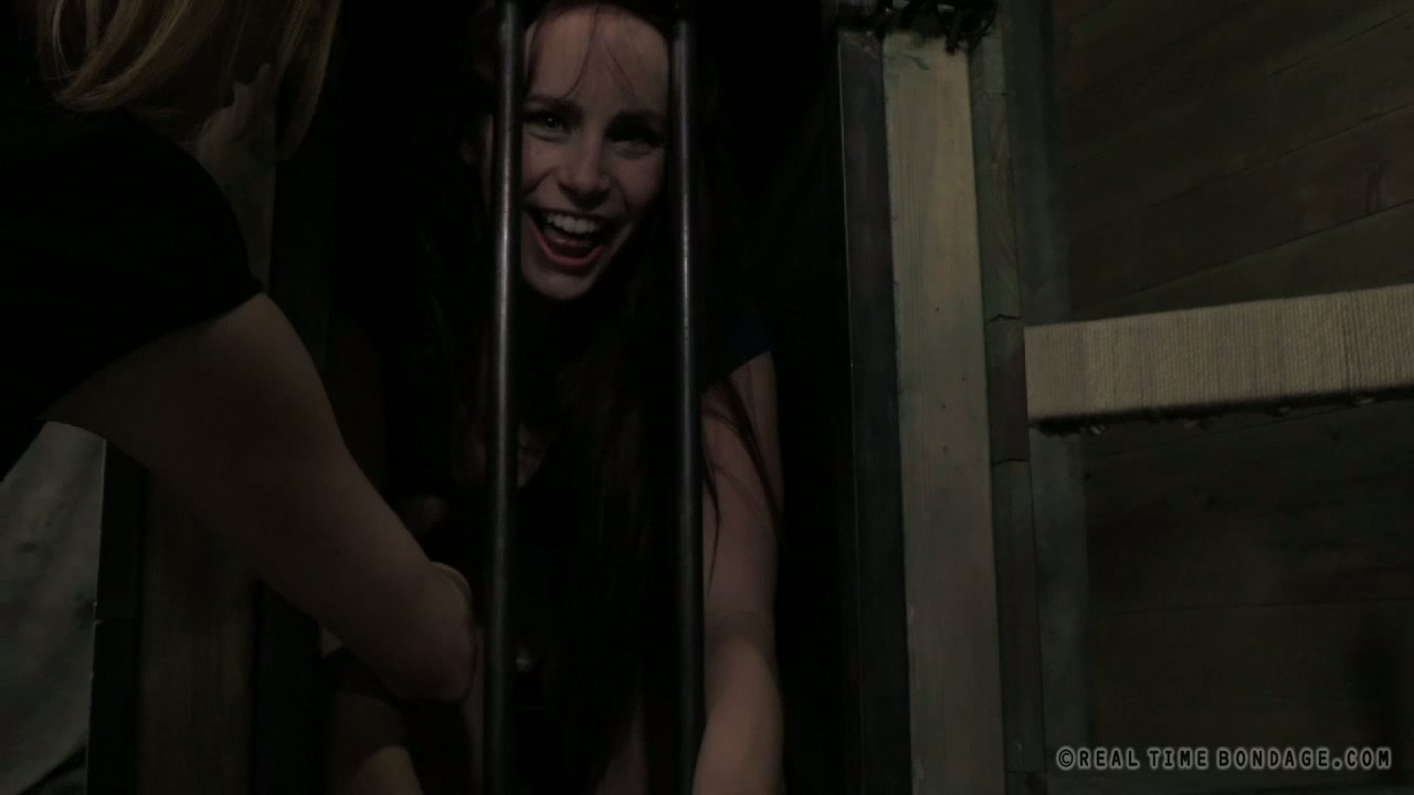 Ruined brunette whore gets her mouth pounded with wrist in BDSM sex scene