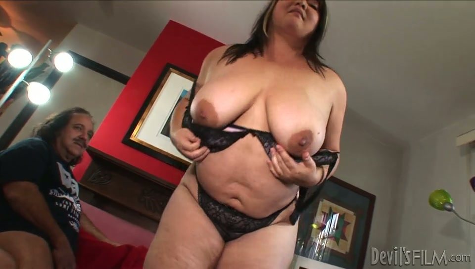 Fat Asian hoe Kelly Shibari lets aged dude Ron Jeremy gets her twat fingered
