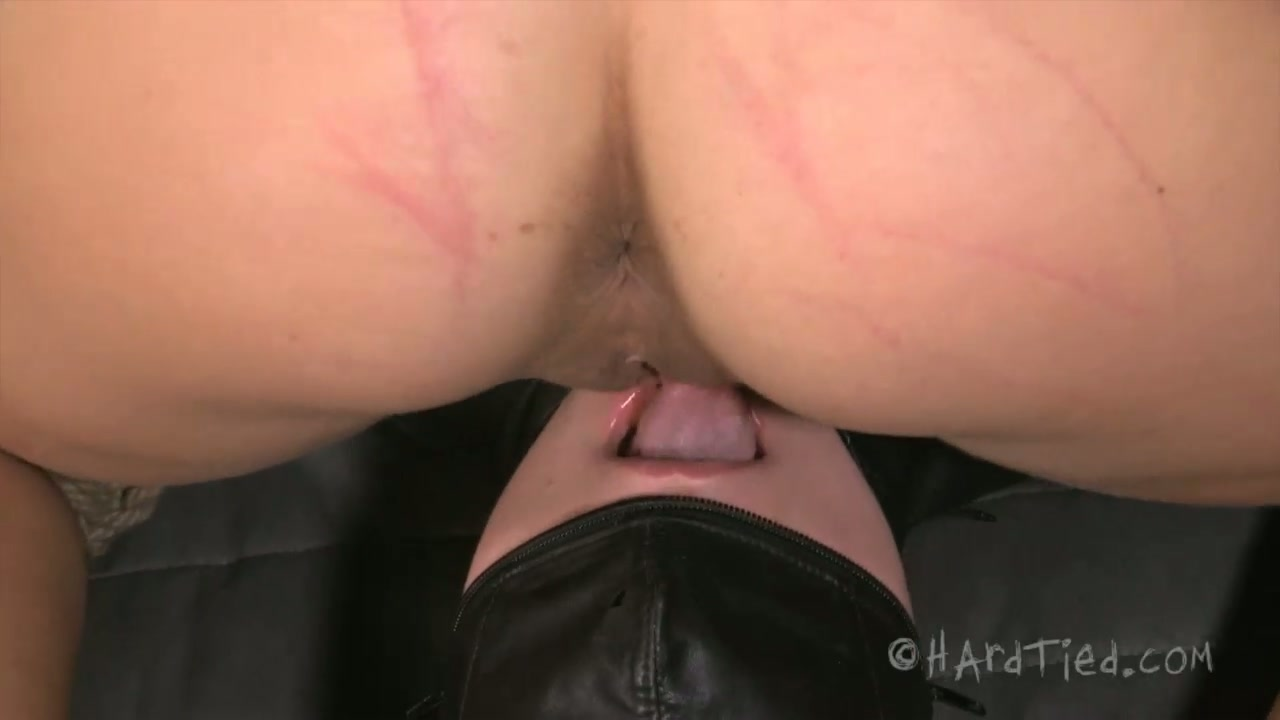 Luscious blond cutie welcomes tongue fuck in pose 69 in BDSM sex scene