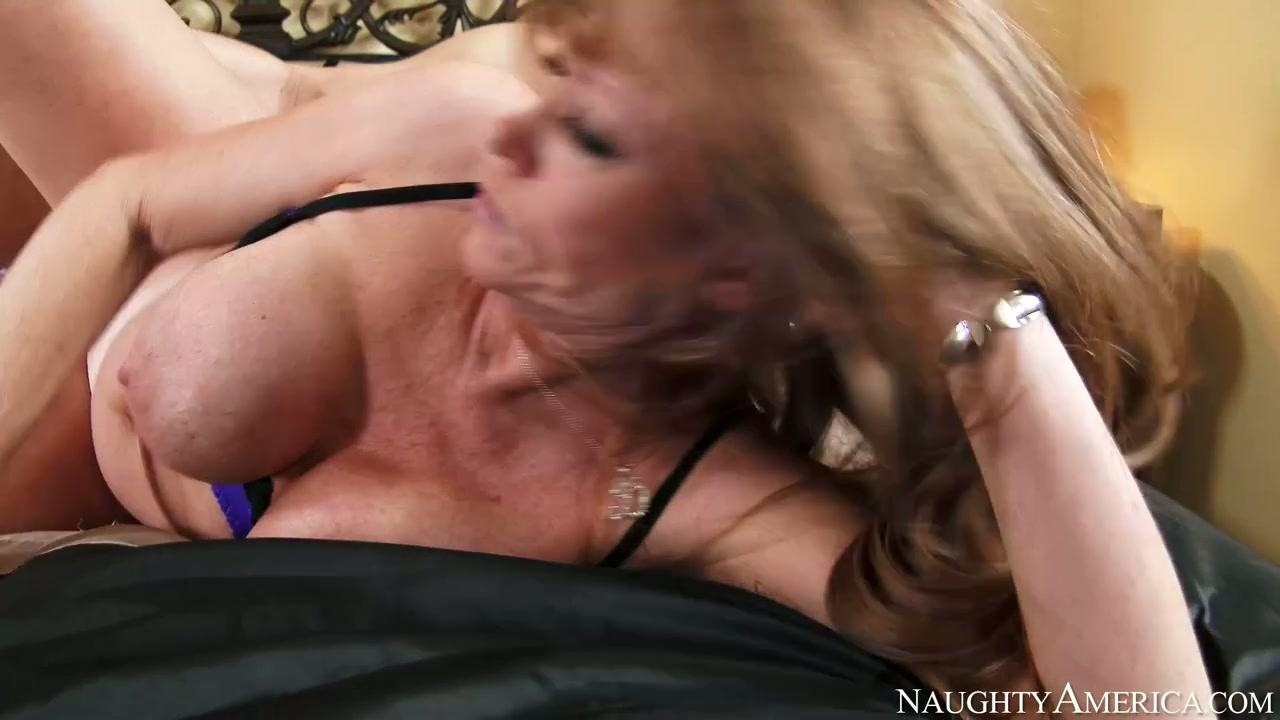 Horny mature Darla Crane rides hard dick of Seth Gamble like a true cowgirl