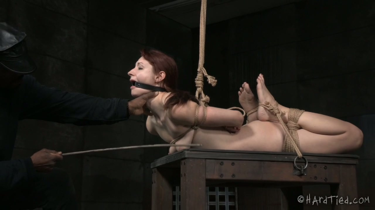 Black BDSM man gives hard lesson to white red haired slut Violet Monroe