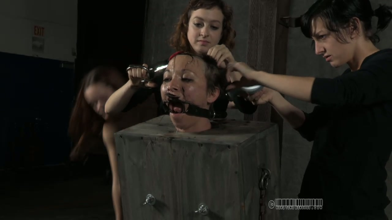 Skanky short haired whore gets her hair totally shaved in BDSM sex clip