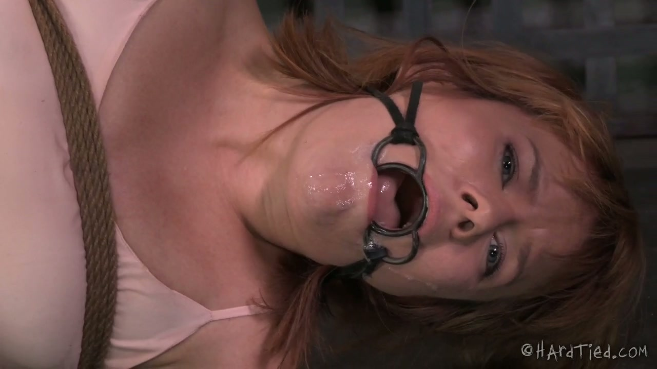 White ginger bitch Claire Robbins enjoyed incredibly hard sex with her black BDSM man